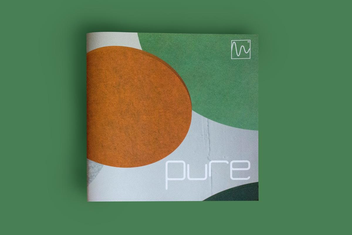 Produkt-Broschüre pure | Logo-Design