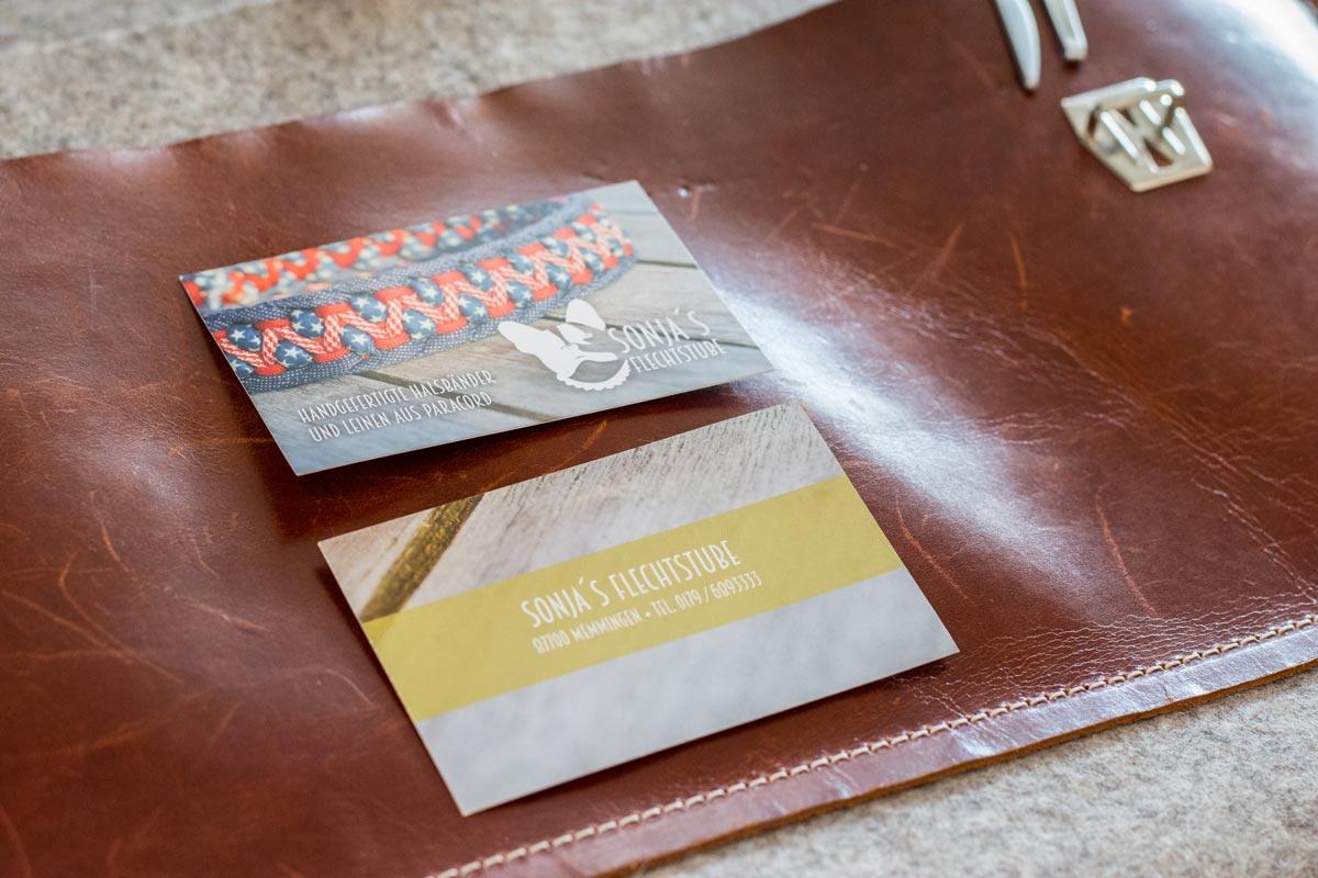 Visitenkarten Sonja´s Flechtstube | Julia Friedl